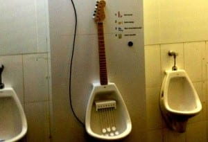 Electric Guitar Urinal